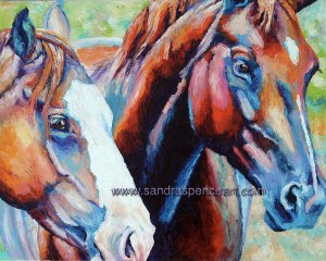 colorfulhorses16x20
