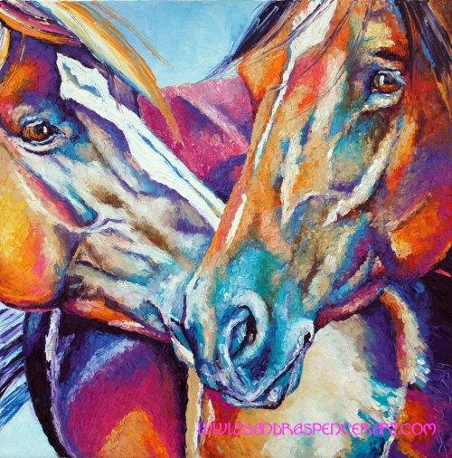 horsekiss18x18
