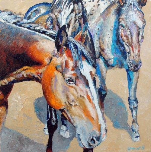 gatheredhorses18x18
