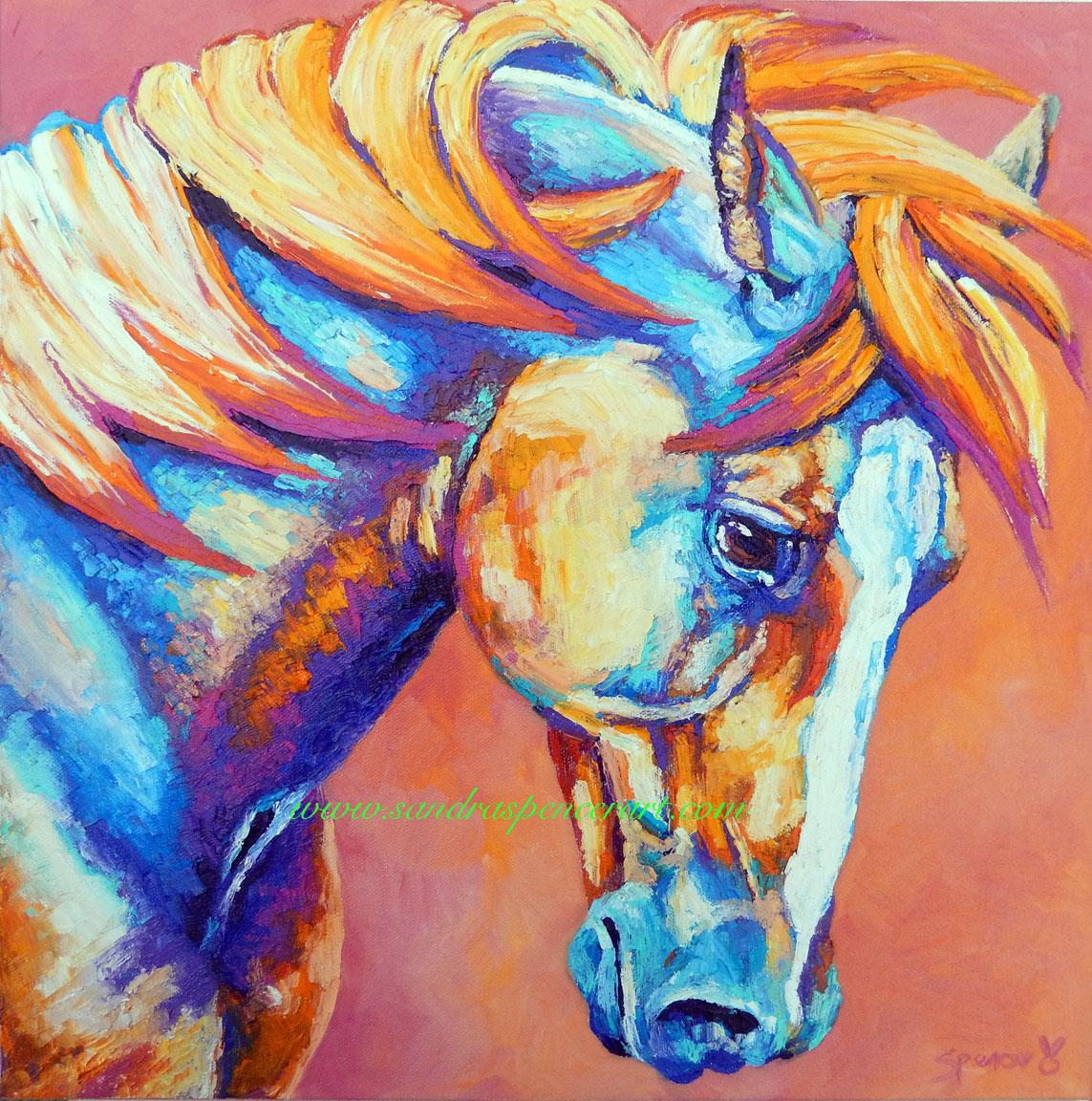 Horseshoe Painting On Canvas