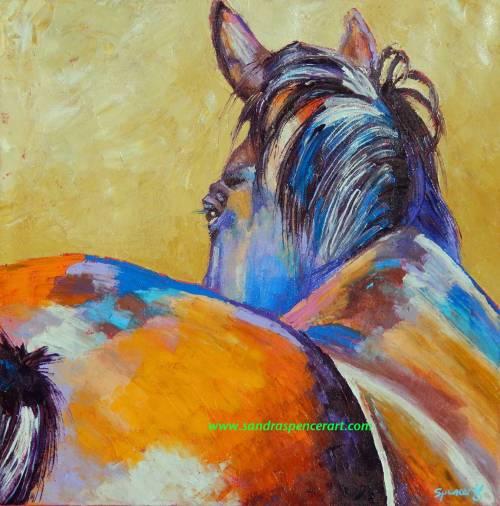 horselookback18x18