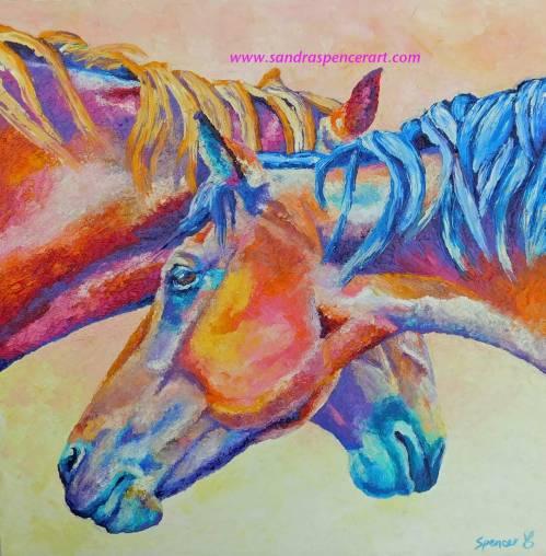 horsescrossed18x18