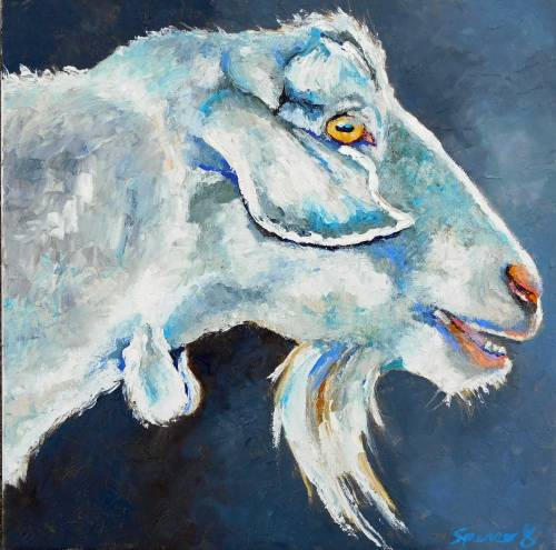 whitealpinegoat12x12