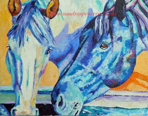 drinkinghorses11x14